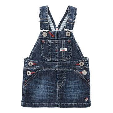 ミキハウス ダブルビー mikihouse サロペットスカート(100cm・110cm) キッズ 子供服 こども 女の子 デニム