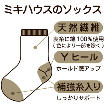 ミキハウス mikihouse BBBシューズ風ベビーソックス(9cm-11cm)