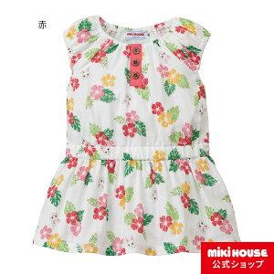 ミキハウス mikihouse うさこトロピカル柄ワンピース(80cm・90cm・100cm) ベビー服 キッズ 子供服 こども 女の子 ノースリーブ