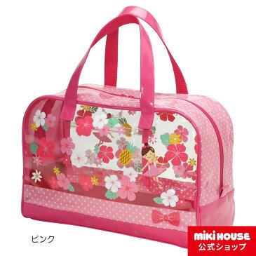 ミキハウス mikihouse リーナちゃん♪ハイビスカスプリントビーチバッグ キッズ かばん 女の子 プール スイミング