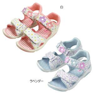 ミキハウス mikihouse サンダルつま先ガード ガールズキッズサンダル(15cm-21cm) キッズ 子供 靴 女の子 ピンク