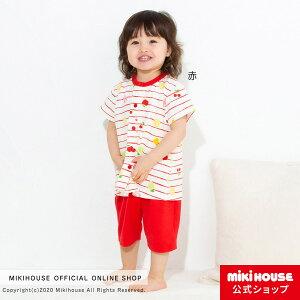 ミキハウス ホットビスケッツ mikihouse 半袖パジャマ(80cm・90cm・100cm・110cm・120cm) ベビー服 女の子 キッズ 子供服 子ども こども 寝巻 はらまき 腹巻付き