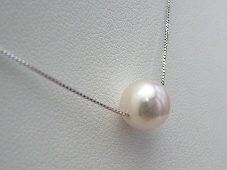 K18WGアコヤ真珠ペンダント pwl-5537 (あこや真珠 和珠 ...