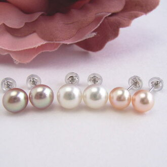SV Freshwater Pearl Earring etl-5595 (K14WG direct Pearl Earrings Ise Shima Pearl, freshwater genuine Pearl of Pearl OK)