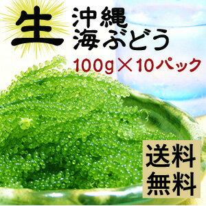 【生】海ぶどう100g×10パックセットお取り寄せグルメおつまみ沖縄お土産