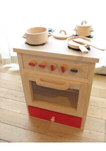 木のおもちゃ 木製おままごとキッチンオーブン アウトレット