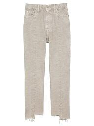 フロント裾段差加工デニムパンツ Mila Owen ミラオーウェン パンツ/ジーンズ ジーンズその他 ホワイト ブラック ブルー【送料無料】[Rakuten Fashion]