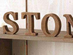 木製アルファベット ウッデンレター アルファベット(ブラウン)A?N【ナチュラル 雑貨 インテリア 新生活 おしゃれ かわいい】