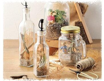 【雑貨】ガラスボトル オイルポット風【ナチュラル雑貨 インテリア雑貨 新生活 おしゃれ かわいい】
