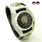 KC,s腕時計(ケーシーズ) アンボーン ヘアーカーフ(牛毛皮) 3コンチョレザーウォッチ 2色KSR503【ケイシイズ】