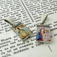 荘厳なイメージの聖母マリア冠をかぶった聖母マリア メキシカンペンダントトップ 小 mx671【...