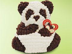 フルーツケーキにひとつひとつクリームを手絞りしたリトルパンダ!【新登場】マイルストーン リ...