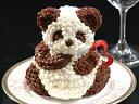 フルーツケーキにひとつひとつクリームを手絞りしたリトルパンダ!【バースデーケーキに、誕生...
