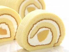 岡山県産清水白桃を贅沢に使用甘さ控えめなクリームは軽くスッキリとした口溶けロールケーキ【...