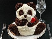 ストーン バースデー キャラクター マイルストーンパンダケーキ デコレーション バレンタイン