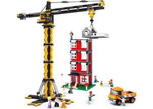【AFM ブロックシリーズ/タウン】AFM タワークレーンセット◆1461ピース/クライミングクレーン/重機/建設機械/ジオラマ