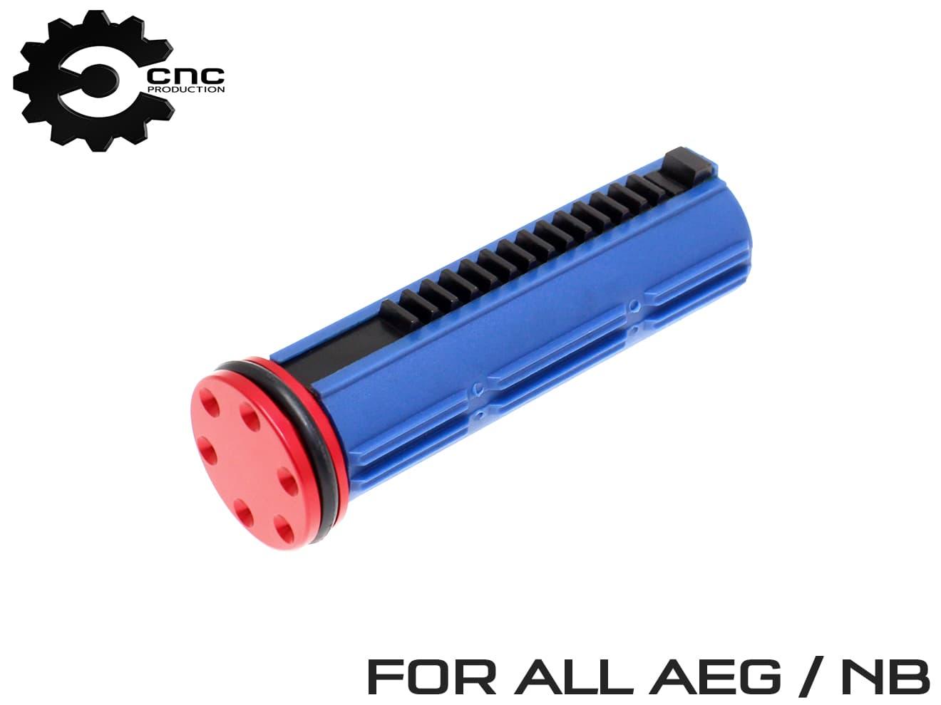 CNC Production AEG 14.5T ナイロンファイバーピストン+6ホール ベアリング ピストンヘッド◆電動ガン ノーマルボアシリンダー用 高強度画像