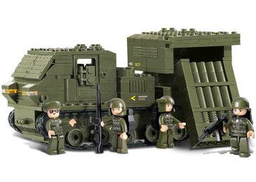【AFM ミリタリーブロックシリーズ/陸軍】LAND FORCES M270ロケット発射車両◆316ピース/軍用車両/MLRS/M26A1/M28