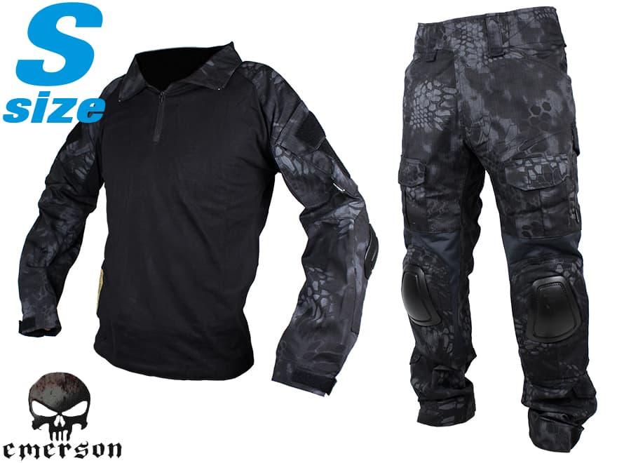 【SWAT仕様に/最新迷彩タイフォン】EMERSON GEAR G2 コンバットシャツ&パンツ S-size/TYPHON◆上下セット装備/パッド標準装備