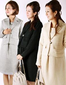 【授乳服 兼 マタニティ】 エレガント★テーラードスーツ (ジッパータイプ)~卒園式、入学式、…