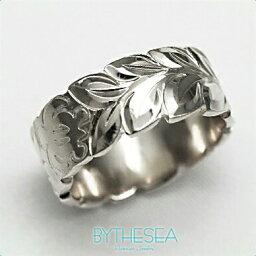 結婚指輪 刻印無料 誕生石ハワイアンジュエリー リング 指輪 刻印無料 誕生石 大きいサイズ 送料無料 オーダーメイドリング マリッジリング ネーム レディース メンズ ハワジュ WF8B-A ミリオンベル