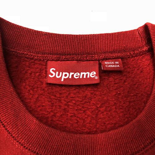 クルーネックサイズ 【中古】 15AW Supreme 【M】 【送料無料】 シュプリームBox Logo CrewNeckボックスロゴ 【1221】 【1712】
