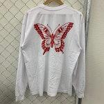 GirlsDon'tCryガールズドントクライBUTTERFLYL/ST-SHIRTバタフライロングTシャツカラー:ホワイトサイズ:L【中古品】【トップス】【シャツ】【クリスマス】【プレゼント】