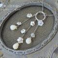 白蝶貝ダイヤモンドお花ネックレス