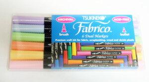紙にも布にも描ける!ファブリコマーカー6本セット(カラー ソルベ)