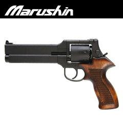 マルシン ケース式リボルバー マテバリボルバー BK HW 純正木製グリップ 6mmBB Xカ…