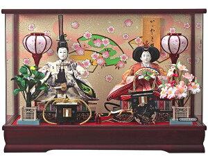 ひな人形送料無料籘翁作芥子親王春奈かわいく飾れる幅53cm軽量アクリルケース雛人形おひなさま桃の節句