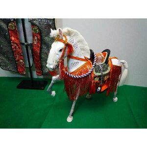 5月節句飾りお祝いの品に最適なちりめん飾り馬13号京馬かざり
