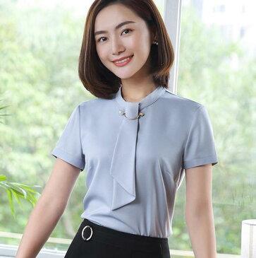 3色 レディース シャツ短袖 ワイシャツ 通勤オフィス 入学式に七五三 OL 大きいサイズ トップス 制服 事務服 フォーマル ビジネス ブラウス 細身 大きいサイズ
