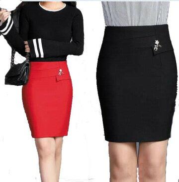 2色/スカート タイトスカート フィット ゆとり  レディース 通勤オフィス 入学式に七五三 OL 大きいサイズ 制服 事務服 フォーマル ビジネス 大きいサイズ 無地 M/L/XL