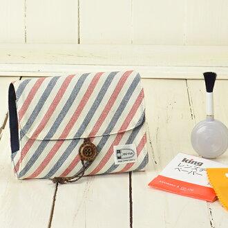 Camera girl ♪ care for pretty porch and camera set / French horizontal stripe Malin