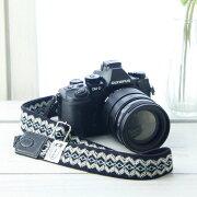 カメラストラップ ジグザグブルーブラック