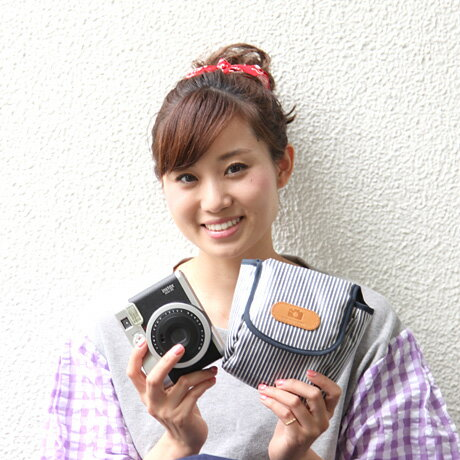 かわいい チェキケース チェキ instax mini 90,70,25,8+,25,8,SQ20,SQ10 対応 カメラケース /アメリカンヒッコリー