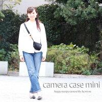 カメラケースcameracaseカメラカバーMI-NAミーナおしゃれかわいい女子一眼レフミラーレス「カメラのお洋服ミニ」ブラック帆布needlework(刺繍)シリーズ