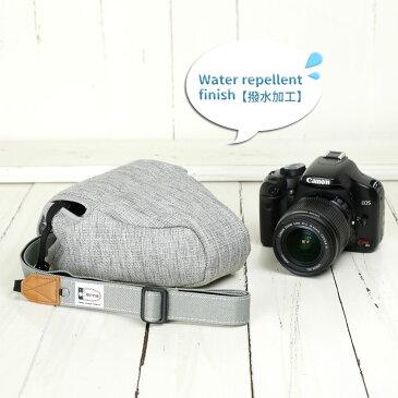 カメラケース camera case カメラカバー MI-NA ミーナ おしゃれ かわいい 女子 一眼レフ ミラーレス  「カメラのお洋服 スリム」プロテジェ グレーミックス(撥水加工)