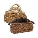 がごバッグ 籐かごバッグ 巾着 ラタン 籐 天然素材 ナチュラル アンティーク風 手編み やたら編み みだれ編み ラタンかごバッグ巾着付き