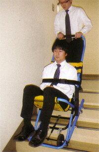 階段避難車(イーバックチェア)専用スタンド付MK4-JP【避難・搬送用具】