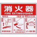 消火器使用方法標識 サイズ:215×250×0.5mm 【消火器】