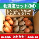 【送料無料】北海道セット(M)人参・じゃがいも・玉ねぎ各3kg