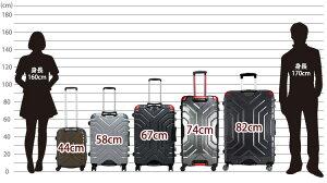 上下ハンドルGripMasterグリップマスター搭載!スーツケース≪B5225T≫58cmMサイズ(3日〜5日向き)中型フレームタイプTSAロック付双輪キャスター搭載【送料無料&1年保証付】ESCAPE'S