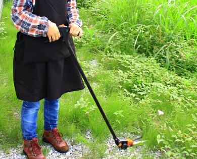 浅香回転式芝刈り鋏(全長365mm)[芝刈鋏芝生鋏剪定はさみ剪定ハサミ][r10]