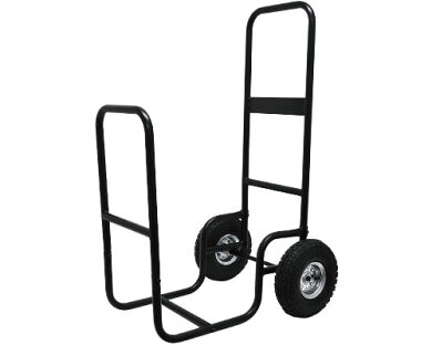 ミナト薪運搬車ログカートMTC-LG01[薪ラック薪キャリー薪カート薪用支柱運搬車][r10][s10]