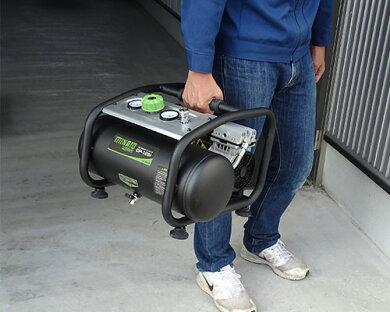ミナト静音オイルレス型エアーコンプレッサーCP-12Si《エアーツール3点付きセット》(100V/タンク容量12L)[エアコンプレッサー][r10][s11][w1200]