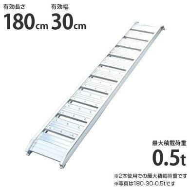 シンセイアルミブリッジ180-30-0.5t1本のみ(最大積載荷重0.5t/全長182cm/有効幅30cm)[道板ラダーレールスロープトラック][r20]