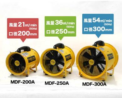 ミナト送排風機ダクトファンMDF-250《5mエアーダクト付きセット》(口径250mm)[排風機送風機換気扇エアダクトエアーダクト][r10][s1-120]