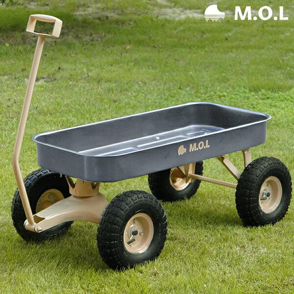 M.O.L キャリートラック MOL-T80 (荷重80kg/大型タイヤ) [MOL アウトドア 台車 キャンプカート キャリーカート リヤカー]
